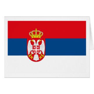 Tarjeta de felicitación de la bandera de Serbia