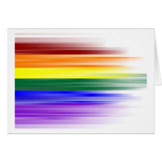 Tarjeta de felicitación de la bandera del arco iri