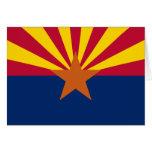 Tarjeta de felicitación de la bandera del estado d