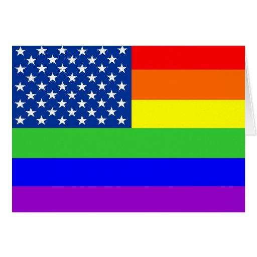 Tarjeta de felicitación de la bandera del orgullo