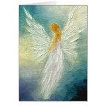 """Tarjeta de felicitación de la bella arte del """"ánge"""