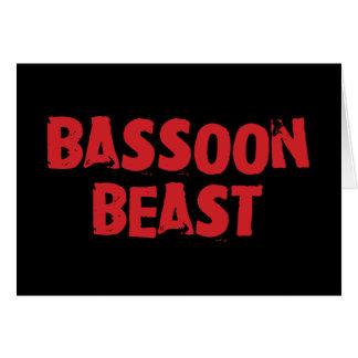 Tarjeta de felicitación de la bestia del Bassoon