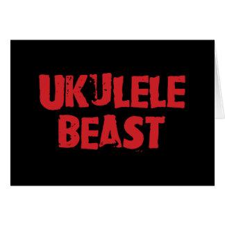 Tarjeta de felicitación de la bestia del Ukulele