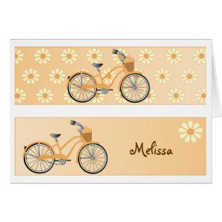 Tarjeta de felicitación de la bicicleta de la