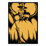 Tarjeta de felicitación de la bruja de Halloween d