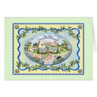 Tarjeta de felicitación de la cabaña del Corgi