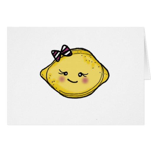 Tarjeta de felicitación de la cabeza del limón de