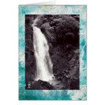 Tarjeta de felicitación de la cascada