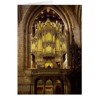 Tarjeta de felicitación de la catedral de Chester