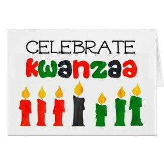 Tarjeta de felicitación de la celebración de Kwanz