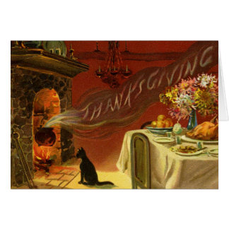Tarjeta de felicitación de la cena de la acción de