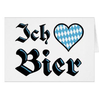 Tarjeta de felicitación de la cerveza del amor del