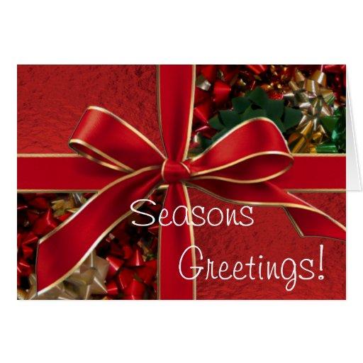 Tarjeta de felicitación de la cinta del navidad