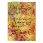 Tarjeta de felicitación de la cita de Jane Austen