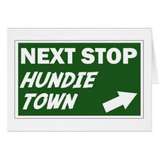 Tarjeta de felicitación de la ciudad de Hundie