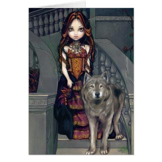 """""""Tarjeta de felicitación de la condesa del lobo"""""""