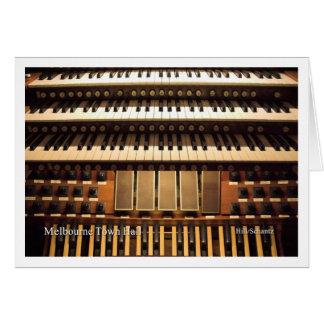 Tarjeta de felicitación de la consola del órgano