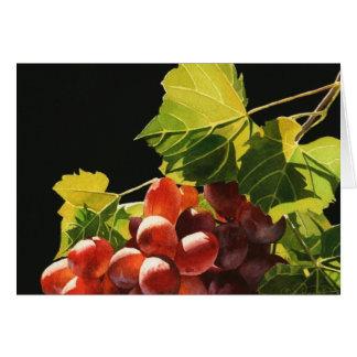 Tarjeta de felicitación de la cosecha de la uva