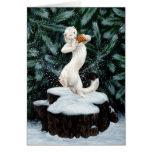 """""""Tarjeta de felicitación de la danza de la nieve"""""""