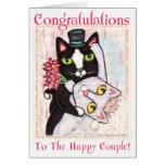 Tarjeta de felicitación de la danza del boda de la