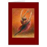 Tarjeta de felicitación de la danza del español (p
