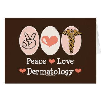 Tarjeta de felicitación de la dermatología del amo