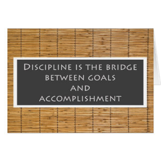 Tarjeta de felicitación de la disciplina