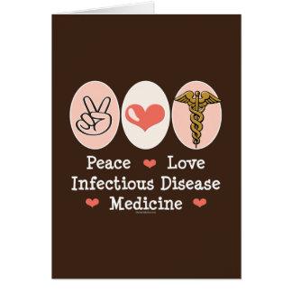 Tarjeta de felicitación de la enfermedad infeccios