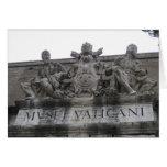 Tarjeta de felicitación de la entrada de Vatican