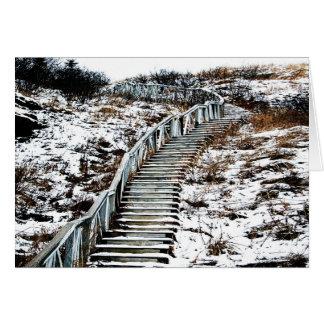 Tarjeta de felicitación de la escalera Nevado