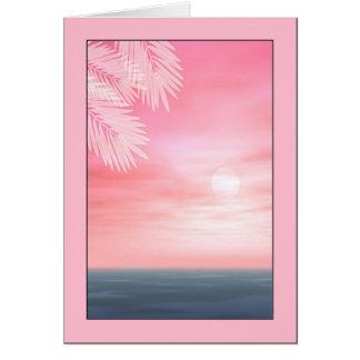 Tarjeta de felicitación de la escena de la playa