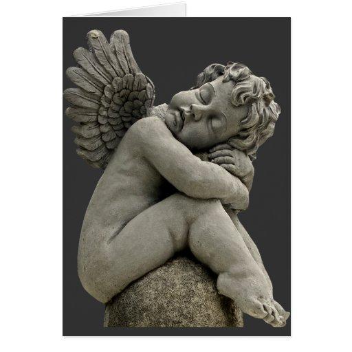 Tarjeta de felicitación de la escultura del ángel