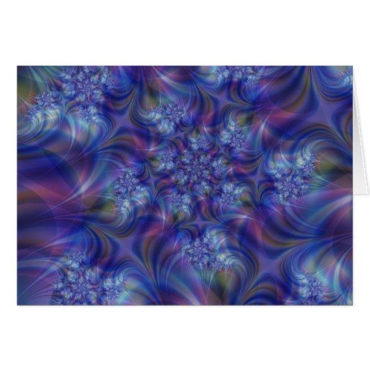 Tarjeta de felicitación de la esencia del fractal