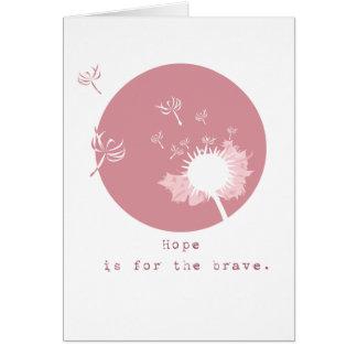 Tarjeta de felicitación de la esperanza