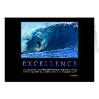 Tarjeta de felicitación de la excelencia