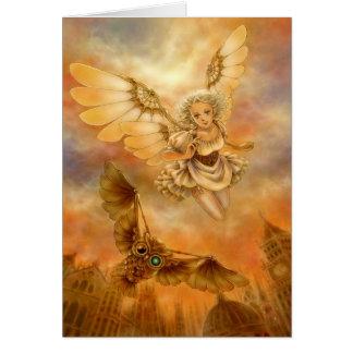 Tarjeta de felicitación de la fantasía del ángel d