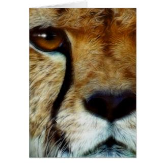 Tarjeta de felicitación de la fauna del GUEPARDO y