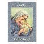 Tarjeta de felicitación de la fe de Jesús del bebé