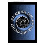 Tarjeta de felicitación de la Feliz Año Nuevo 2