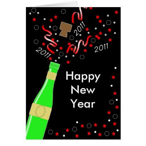 Tarjeta de felicitación de la Feliz Año Nuevo de C