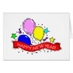 Tarjeta de felicitación de la Feliz Año Nuevo de l