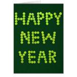 Tarjeta de felicitación de la Feliz Año Nuevo para