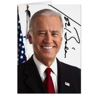 Tarjeta de felicitación de la firma de Joe Biden
