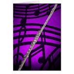 Tarjeta de felicitación de la flauta o del flautis