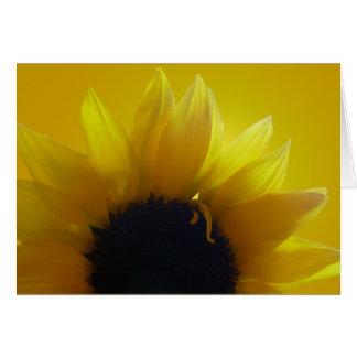 Tarjeta de felicitación de la flor del amarillo de