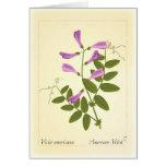 Tarjeta de felicitación de la flor salvaje
