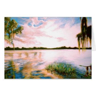 Tarjeta de felicitación de la Florida Sunset