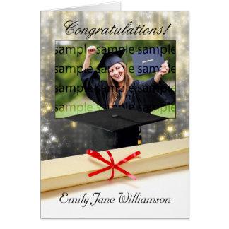 tarjeta de felicitación de la foto de la graduació