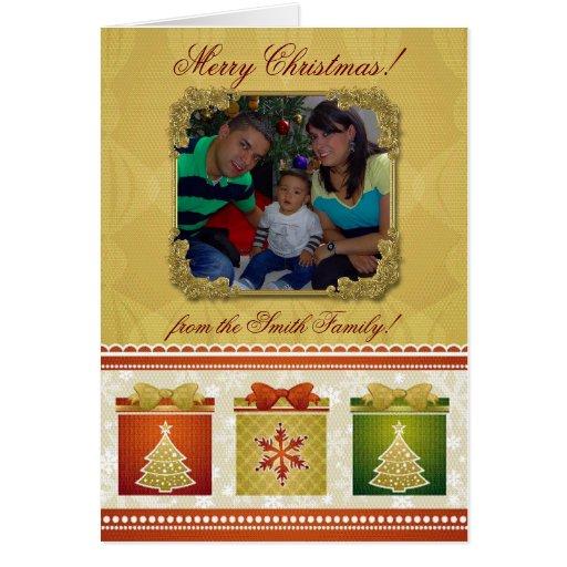Tarjeta de felicitación de la foto de las Felices