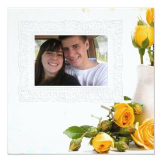 """tarjeta de felicitación de la foto de los rosas invitación 5.25"""" x 5.25"""""""